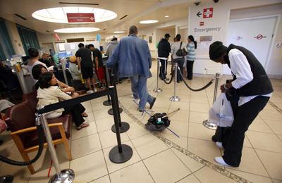 Emergency Room - Patients Waiting in Line